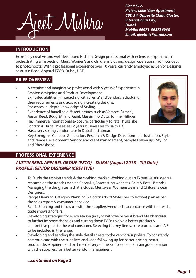 Ajeet Mishra Resume Low Resolution