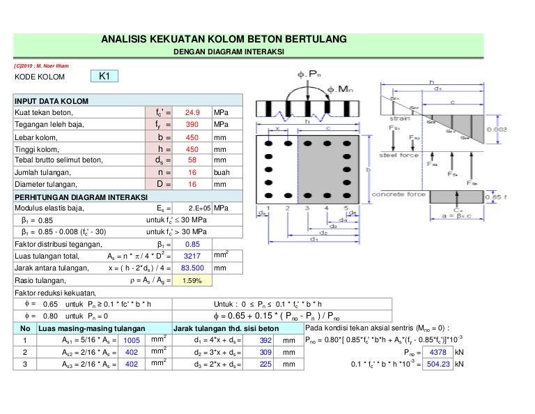 excel perhitungan beton 4