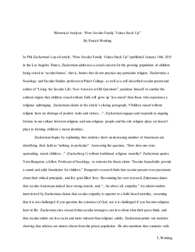 rhetorical analysis essay - Example Of A Rhetorical Essay
