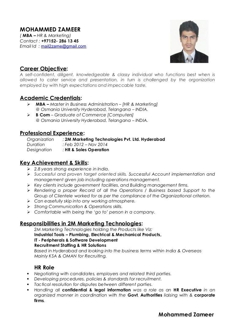 zameer s resume 1