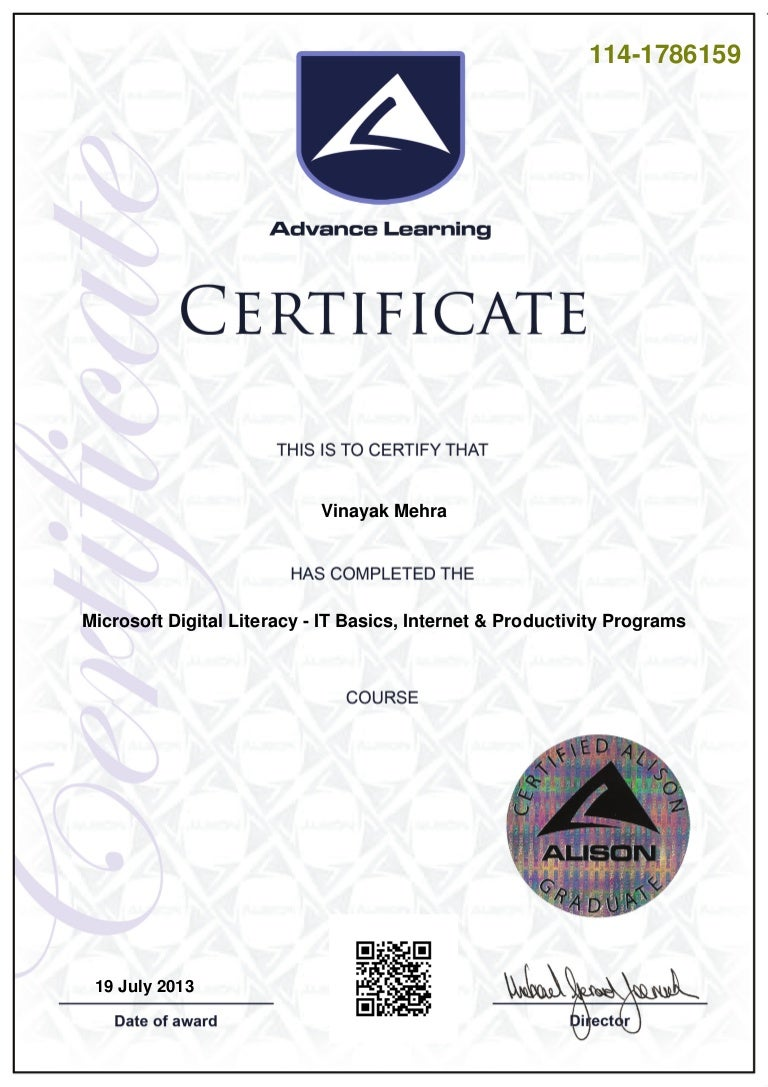 Digital literacy certificate 1betcityfo Images
