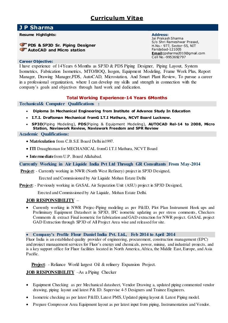 jai prakash sharma cv job description backgrounds piping layout engineer job description #15