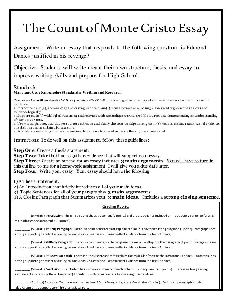 The Count Of Monte Cristo Essay Bceacfaccbfthumbnailjpgcb Personal Essay Examples High School also Professional Writing Services Uk  Sample Business Essay