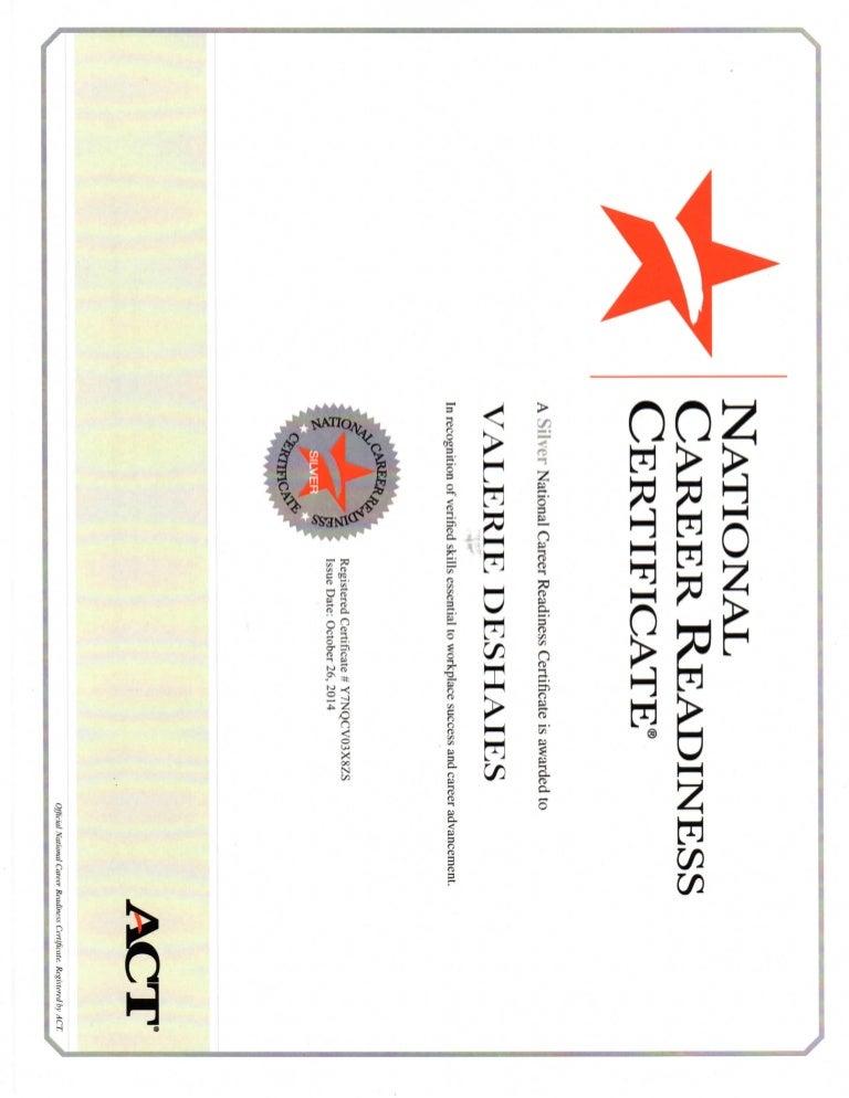 Career Readiness Certificate