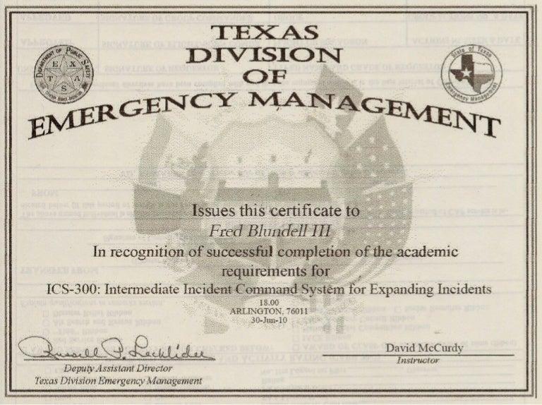 FEMA ICS-300 Intermediate ICS Expanding Incidents