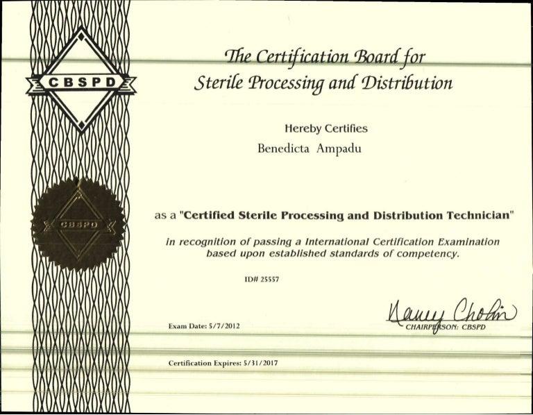cert sterile processing certification board slideshare distribution upcoming