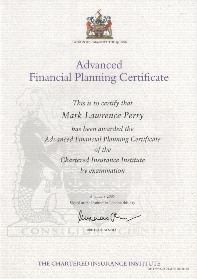 chartered insurance institute advanced diploma mark perry