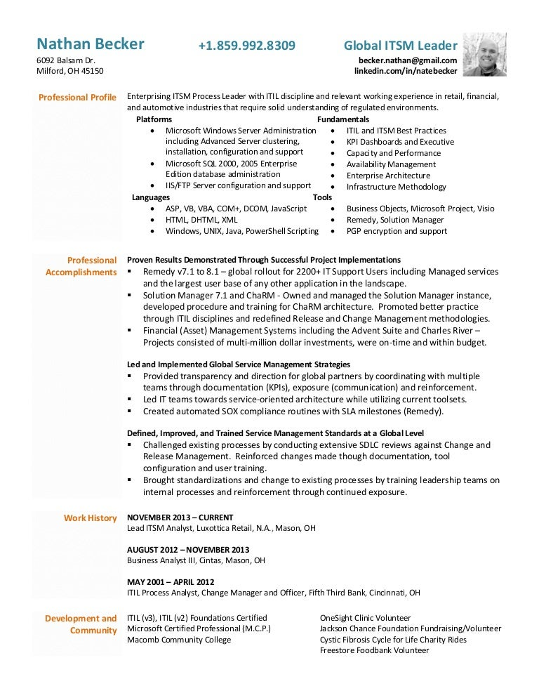 Nathan Becker - Functional resume 2016