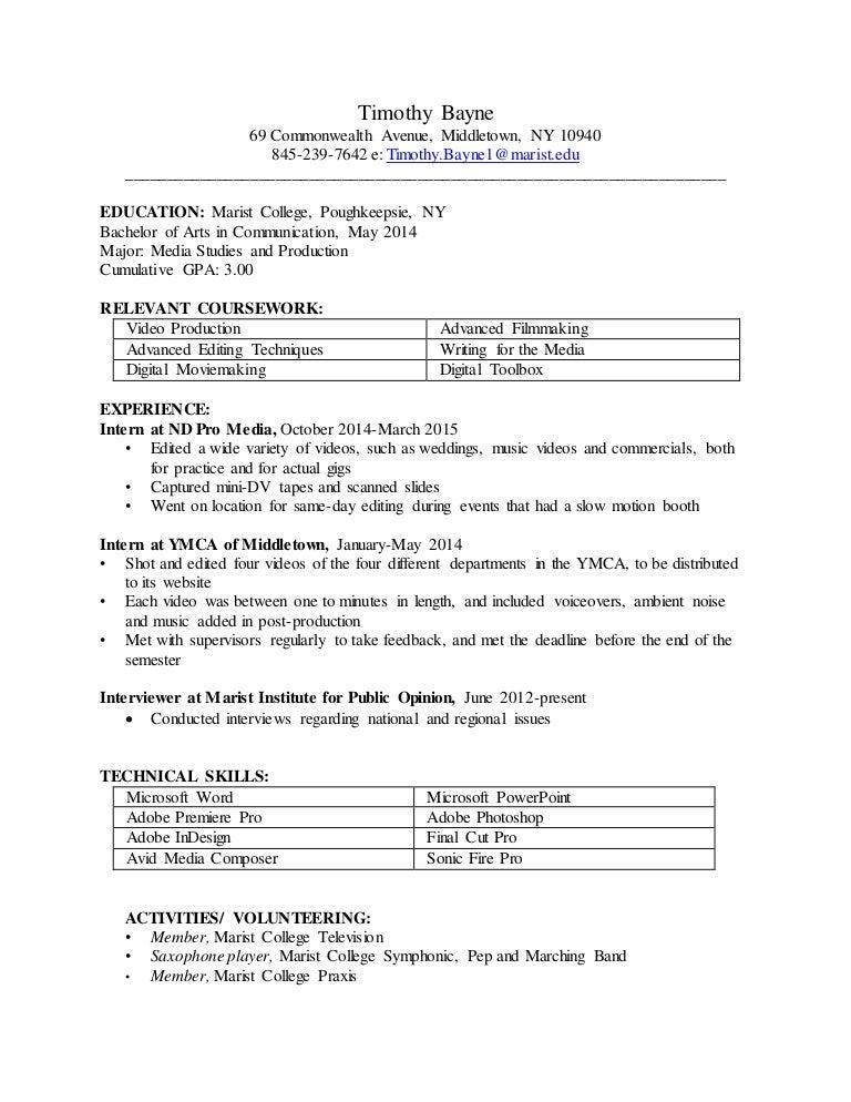 Timothy Bayne Resume 2015