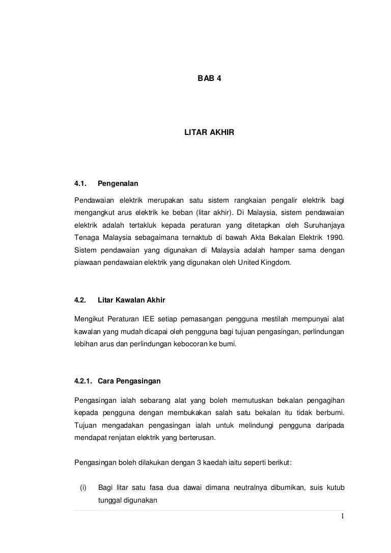 Bab 4 Litar Akhir Wiring Lampu Kalimantang