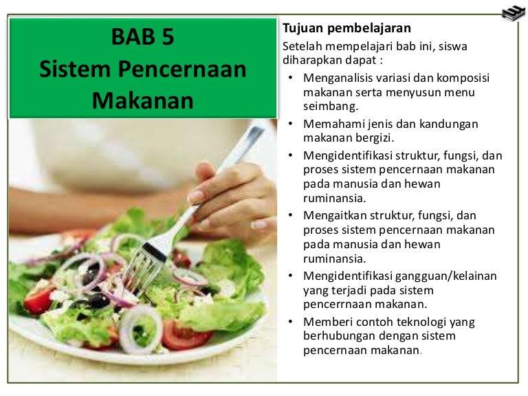 Bab 5 Sistem Pencernaan Makanan