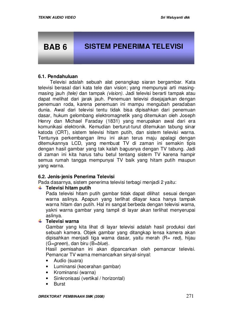 Bab 6 Sistem Penerima Televisi Antena Penguat Sinyal Modem Inovasi Tanpa Putar Arah 20 Meter Bab6sistempenerimatelevisi 130428201039 Phpapp02 Thumbnail 4cb1367179935