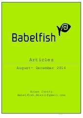 Babelfish Articles August-December 2014 13-1-15