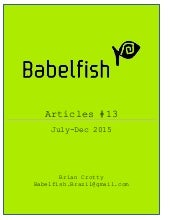 Babelfish Articles July-Dec 2015 10-12-15