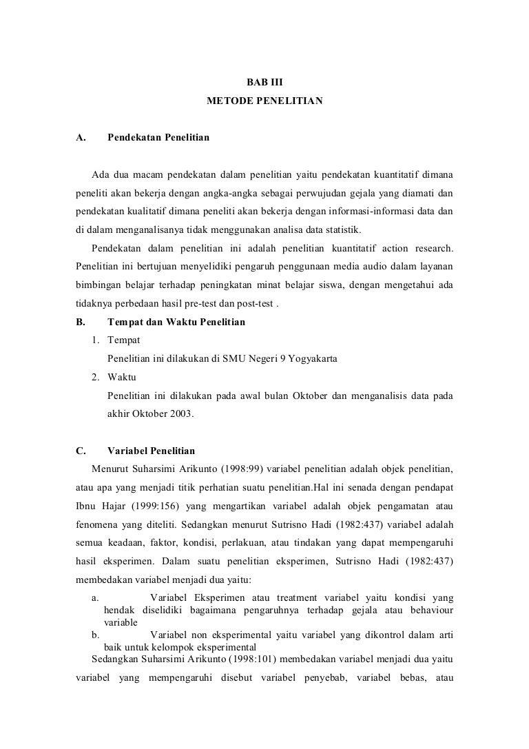 Contoh Tesis Bab 3 Metode Penelitian Kuantitatif Contoh Soal Dan Materi Pelajaran 7