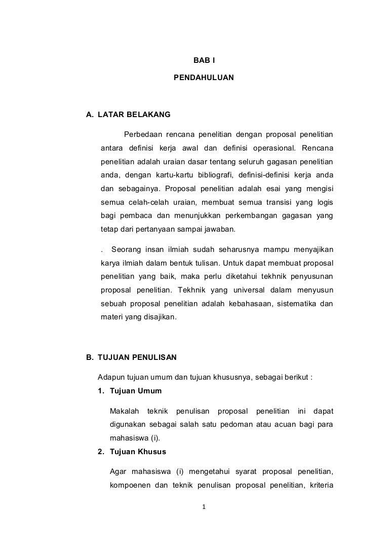 Contoh Proposal Skripsi Bab 1 2 3