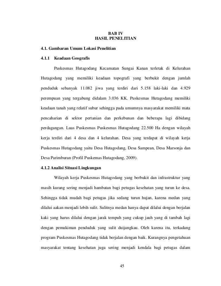 Contoh Bab 4 Skripsi Keperawatan Ide Judul Skripsi Universitas