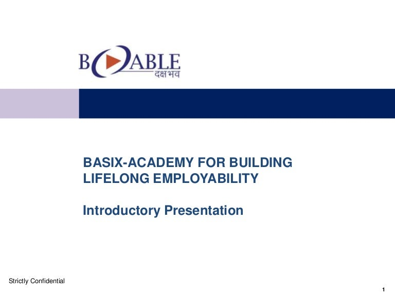 B Able Presentation
