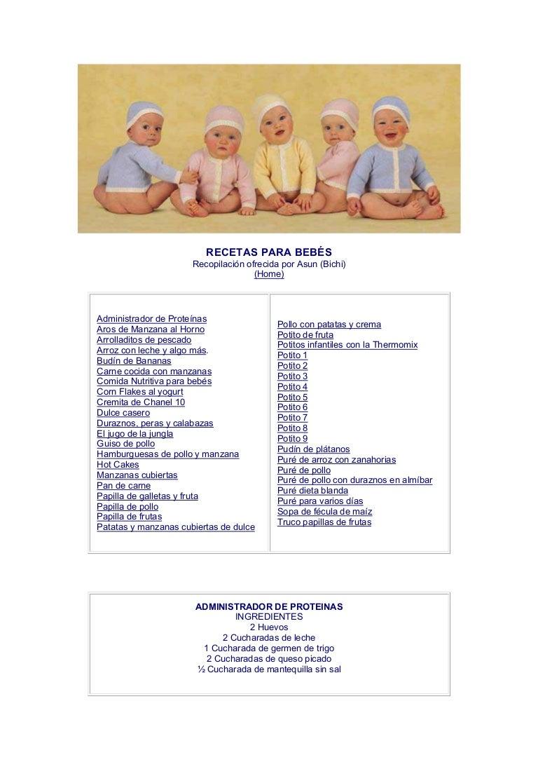 recetas pures para bebes 6 meses thermomix