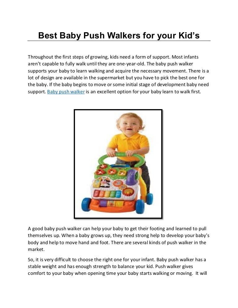 Baby push-walker