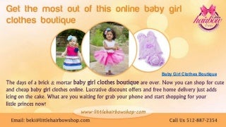 Baby girl clothes boutique