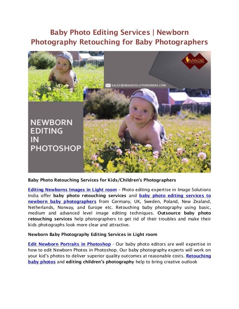 Newborn photo editing services