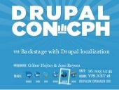 Backstage with Drupal localization - Part 1