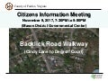 Backlick Road Walkway Citizens Information Meeting: Nov. 9, 2017