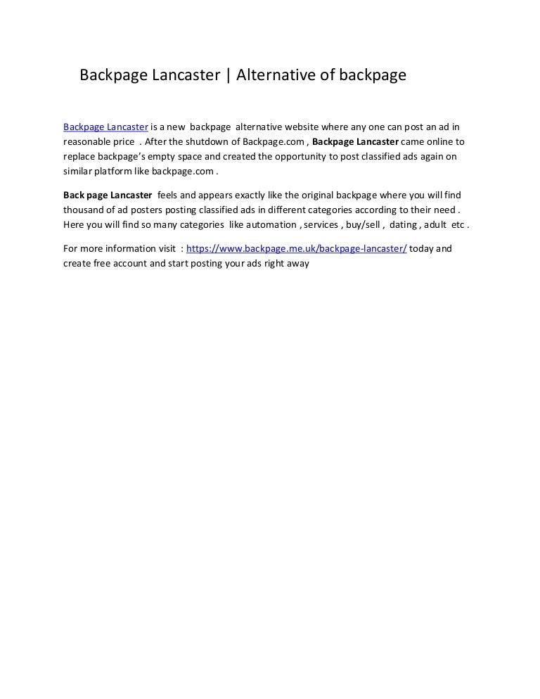Backpage com lancaster