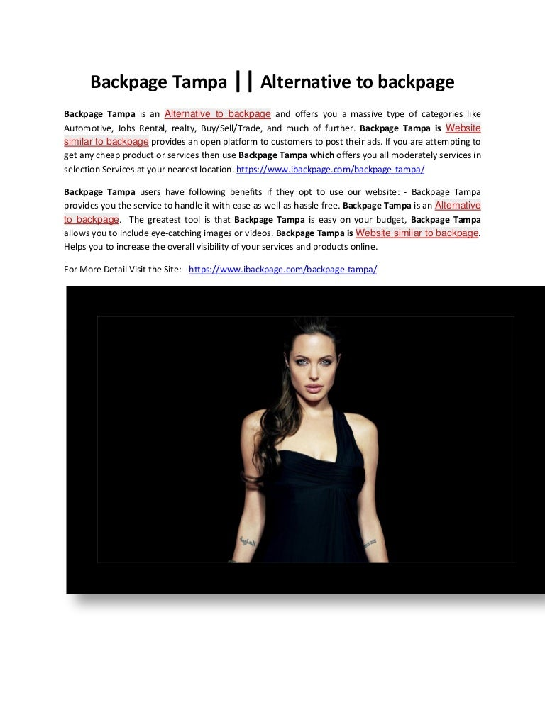 Backpage com tampa www Free classifieds