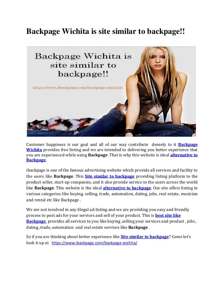 Backpage Wichita is site similar to backpage!!