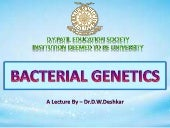 Bacterial genetics final lecture
