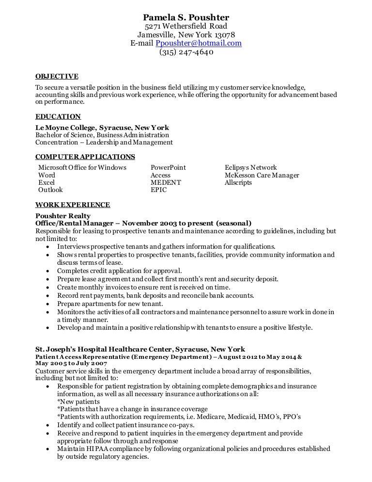 patient access representative job description patient access