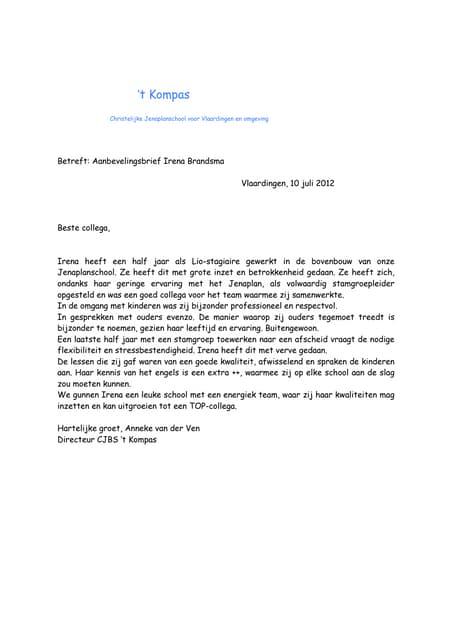 Aanbevelingsbrief H.H.S. Moerbeek (universitair docent)