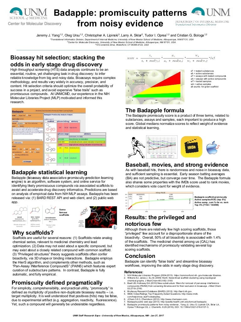 Badapple: promiscuity patterns from noisy evidence (poster)