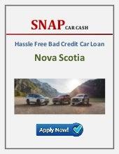 Bad credit car loans Nova Scotia - Snap Car Cash