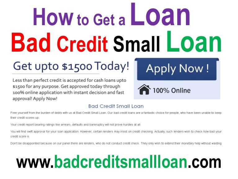Bad Credit Loans- Quick Small Loans Get Cash for Same Day Ne