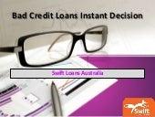 Bad credit loans instant decision