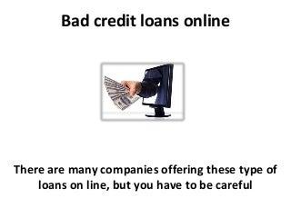 installment loans for bad credit online