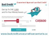 Bad Credit Payday Loans Canada - How Unsecured Loans Are Approved With Bad credit?