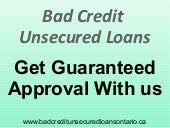 Bad Credit Unsecured Loans: A Useful Track for Emergency Funds!