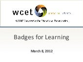 Badges for Learning (WCET)