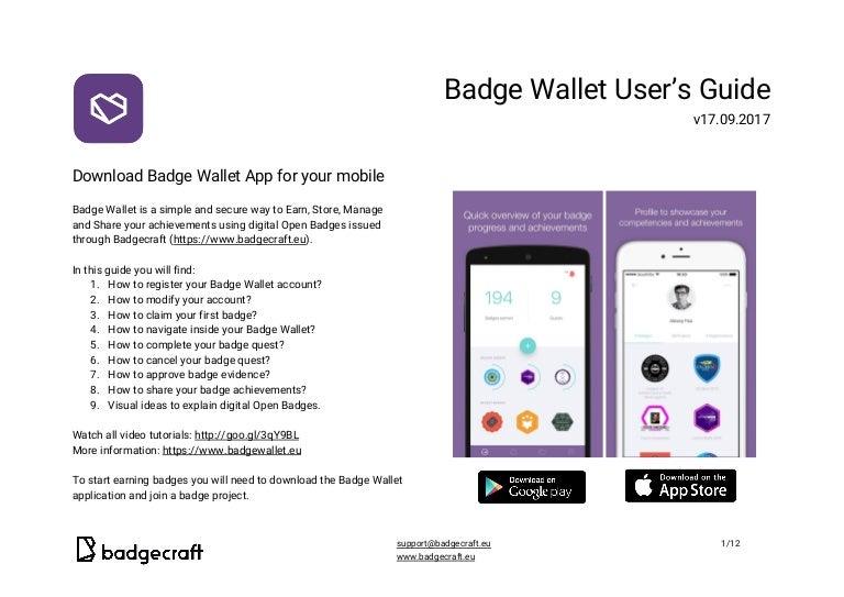 Badge Wallet user's guide