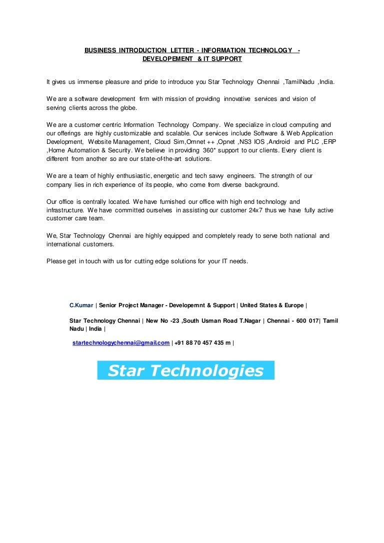 application letter for information technology cover letter format ...