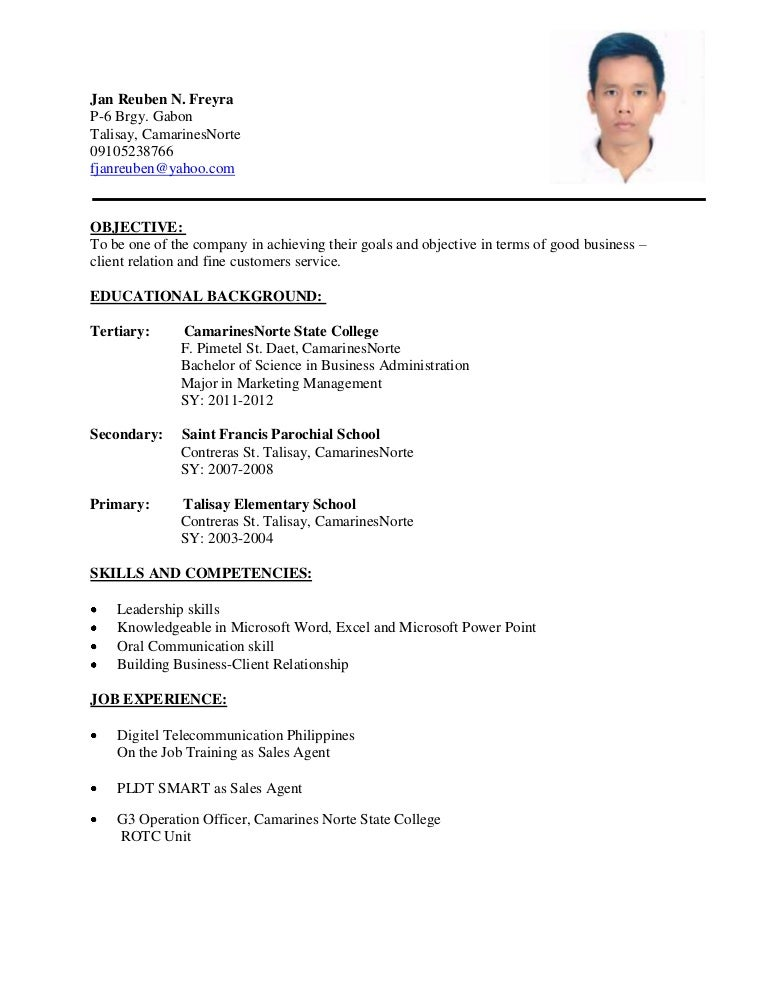 resume format for job bagung resume 14432 | bagungresume 120624052723 phpapp02 thumbnail 4