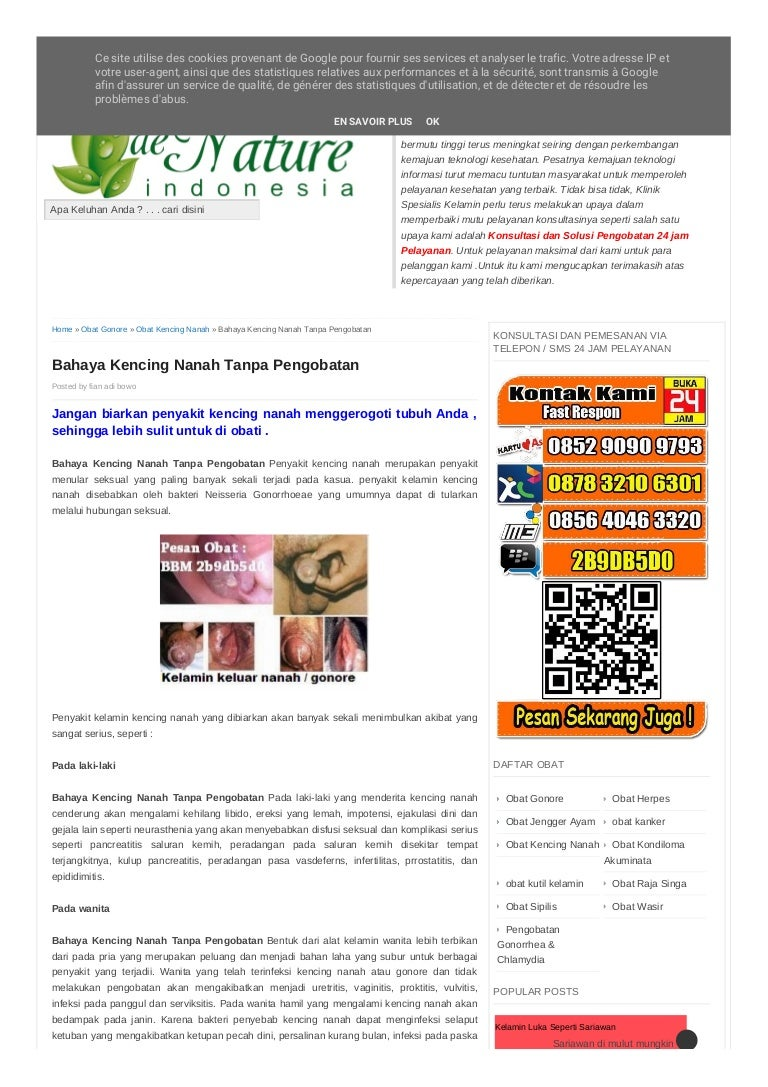 Bahaya Kencing Nanah Tanpa Pengobatan Nyotorahwono7 Obat Spelis