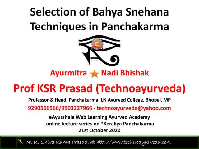 Bahyasnehana selection 21 10-2020