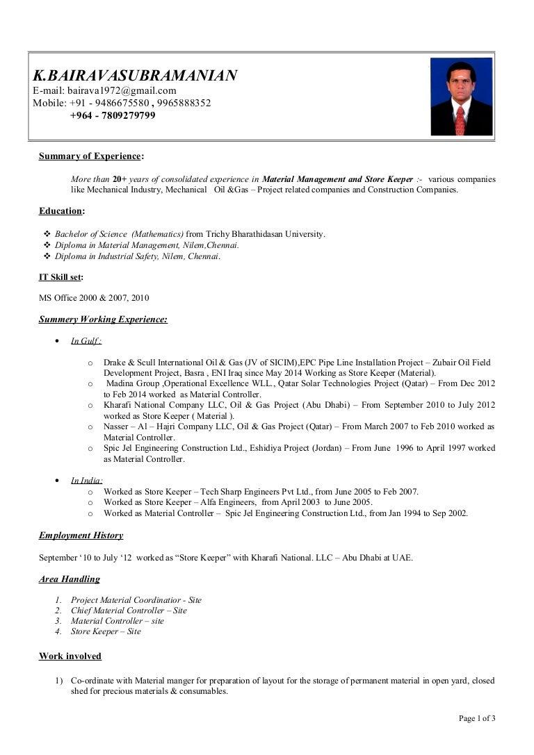 bairavan resume 2014 ds