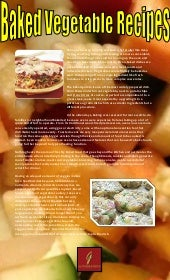 Baked vegetable recipes