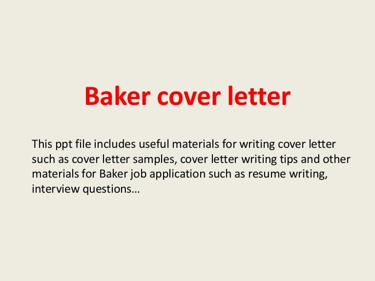 bakercoverletter 140227225910 phpapp02 thumbnail 4jpgcb1393541979 chief baker resume